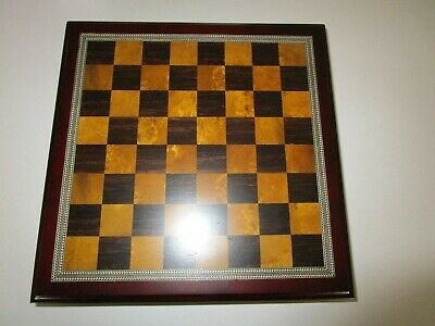 Classic Game Collection Metal Chess Set With Deluxe Wood Board and Storage Spiele ...