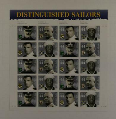 Us Scott 4440 - 43 Pane Of 20 Distinguished Sailors Stamps 44 Cent Mnh