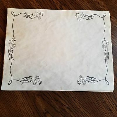 30 Sheets of Printed Tea Coffee Dyed Paper for Scrapbooking or Journaling