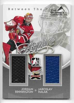 11/12 BETWEEN THE PIPES 'SUMMIT' ASPIRE DUAL JERSEY Halak/Binnington 1/1