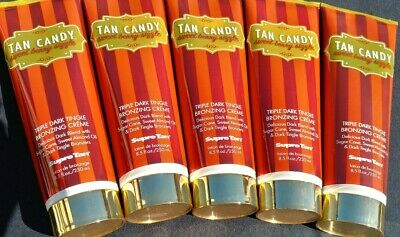 Supre Tan Candy Sweet Berry Sizzle Bronzer Tanning Bed Lotion Five 8.5 Oz  Btls