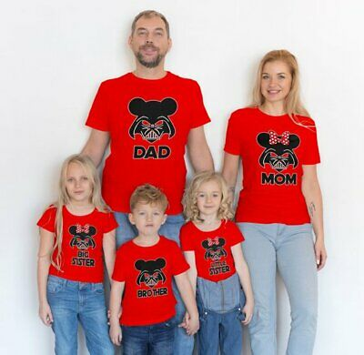 STAR WAR Family Matching Disney T-Shirts Mom, Dad, Little / Big Brother / Sister