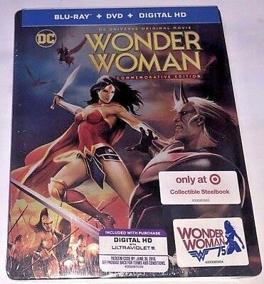 DC Wonder Woman on Arkham Steelbook Target Exclusive Blu-ray Limited Edition