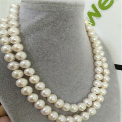 13aff1f2e3018 GORGEOUS 12-13MM SOUTH sea baroque white pearl necklace 18inch 14k ...