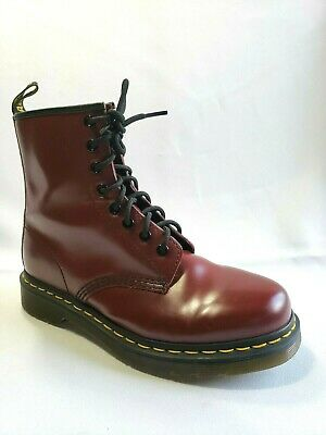 044696e77a5 DR MARTENS 1460 Cherry Red Leather Combat Lace Up Boots Womens Size 7 US 38  EU