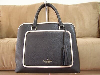 1df5285a0 NWT AUTHENTIC KATE SPADE Large Evangelie Ward Place Soft LEATHER Zip ...