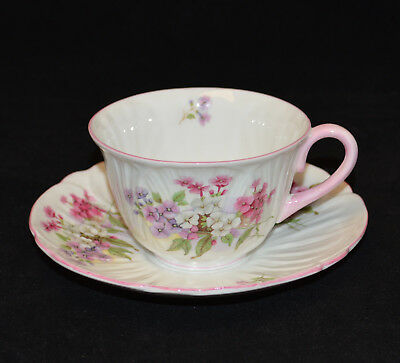 Vintage  Shelley Stocks Pattern - Oleander Shape  Cup & Saucer - Very Good +++