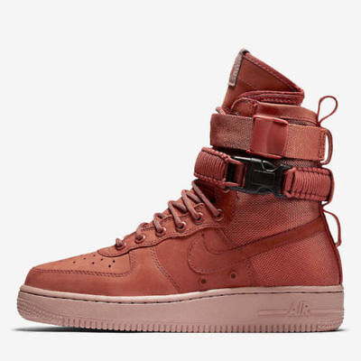cheap for discount 51af4 5a207 Nike Women Air Force AF1 SF Special Forces High Dusty Peach 857872 202 SIZE  5