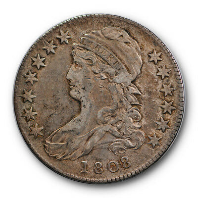1808 50C Capped Bust Half Dollar Very Fine to Extra Fine O 102 A R 5 #RP61