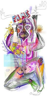 """11x17 RePrint /""""THE SMOKER/"""" by Works Of Freedom"""