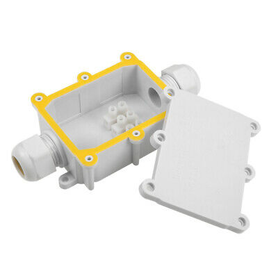 Waterproof IP68  Electrical 2 Way Junction Box 132x69.5x37mm with Terminal Strip