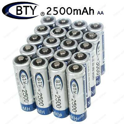 BTY Ni-MH AA Battery 1.2V 2500mAh Rechargeable Batteries For Toy Cars Lot