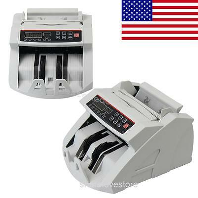 USA ship LED Money Bill Counter Counting Machine Counterfeit Detector UV MG Cash