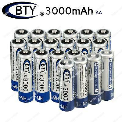 Lot BTY 1.2V 3000mAh Ni-MH Battery AA Rechargeable Batteries For Toys Flashlight