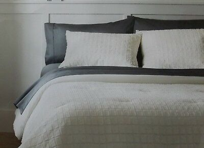 PROJECT 62 SAGE GREEN VELVET GRID COMFORTER CHOICE FULL//QUEEN OR KING NO SHAMS