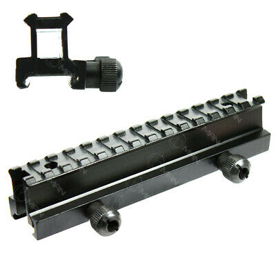 14 Slots Low Profile Riser Mount Quick-Attach Scope For 20mm Picatinny Rail