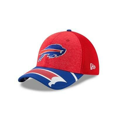 half off 8cf82 4e339 Buffalo Bills Hat New Era 2017 NFL Draft On Stage Fitted 39THIRTY Cap