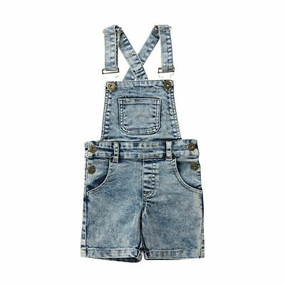 Kids Baby Girl Boy Denim Overalls Romper Bib Pants 6M-6T Outfits Summer Clothes