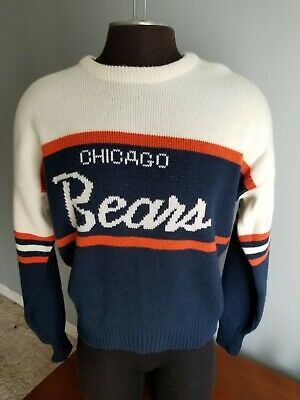 huge discount 65a92 bac71 VINTAGE CHICAGO BEARS Cliff Engle Wool Sweater Adult Mens Large Ditka 80's