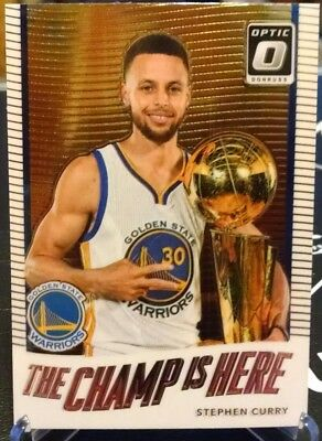 80adacfbcc4f 2017-18 Donruss Optic The Champ is Here  5 STEPHEN CURRY Warriors Chrome