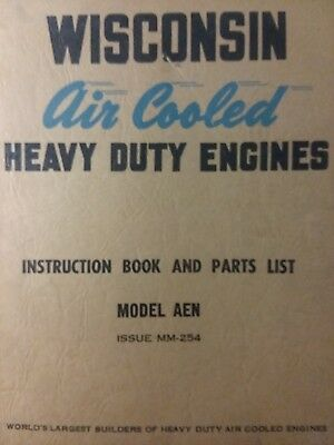 Wisconsin AEN (1 cyl) Engine Owner, Service & Parts Manual Lawn Garden Tractor