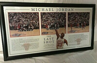 "MICHAEL JORDAN - Framed Print - ""The Last Shot' Poster - Limited 351/750"