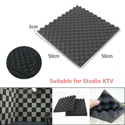 10X Car Soft Sponge Sound Deadening Foam Egg Box Type Acoustic Tiles Studio KTV