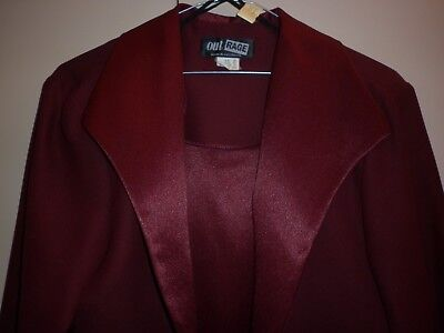 Vintage Outrage Dress And Jacket Scarlet Size 14 Good Condition