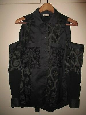 Sally Browne Vintage  Womens  Black  Blouse Size 10 Excellent Condition