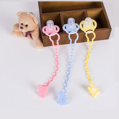 Dummy Clips Cartoon Holder Soother Pacifier Chain Boys Girls Baby Strap PKA sdg