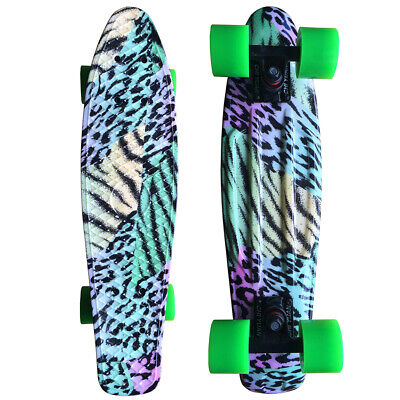 22 Cruiser Skateboard Penny Style Board Graphic Leaves Free Shipping