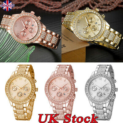 Ladies Women Fashion Crystal Diamante Girl Quartz Wrist Watches Rhinestone Watch