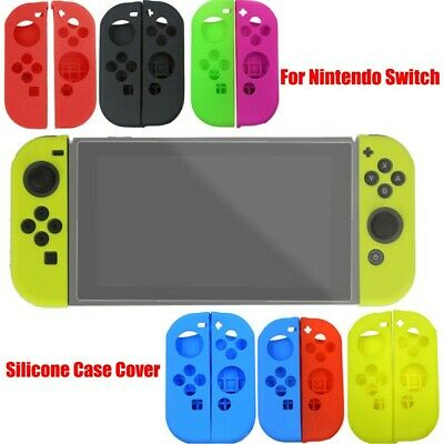 Soft Silicone Case Cover Skins Protector Kit Set Accessories For Nintendo Switch