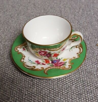Royal Worcester Miniature Cup Saucer Compton & Woodhouse  -6