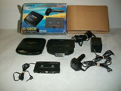 Boxed Sony Discman D-132CK with Complete Car Connecting Kit