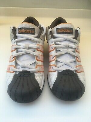 best service 4aa0b 84ad2 ADIDAS SHELL TOE trainers, Men's UK 8, White & Orange - Great condition