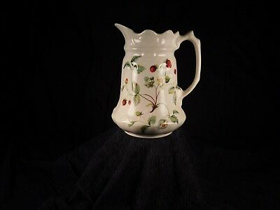 Vintage James Kent Old Foley Strawberry Pitcher