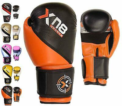 Xn8 Boxing Gloves Muay Thai Kickboxing MMA Sparring Punch Bag Training Fight
