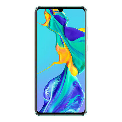 "New Huawei P30 Aurora 128GB 6.1"" 6GB LTE Android 9.0 Sim Free Unlocked UK"