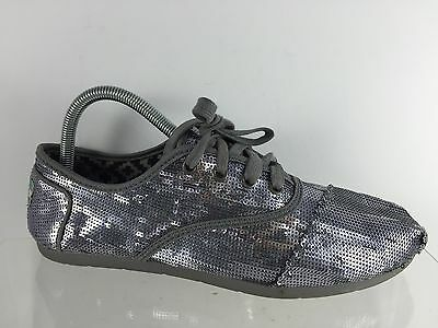 b526b5f481d TOMS WOMENS METALLIC Gray Sequin Shoes 11 Lace Up Laces -  24.99 ...