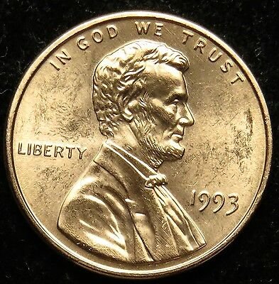 1993 Uncirculated Lincoln Memorial Cent Penny BU (B03)