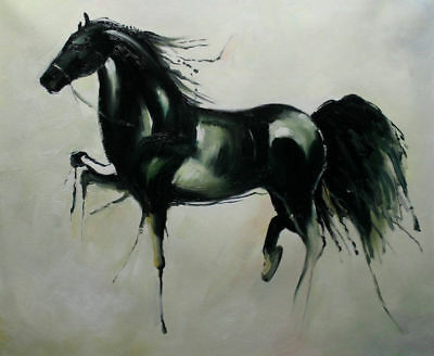 ZOPT253  fancy myth abstract horse animal handpainted art OIL PAINTING CANVAS