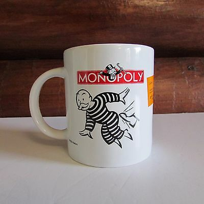 Monopoly Coffee Tea Cup GET OUT OF JAIL FREE Collectible Mug Hasbro