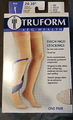 778db1b776f TRUFORM 8868BG-L BEIGE Thigh High Closed Toe Compression Stockings ...