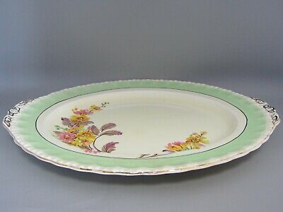 Vintage English Grindley art deco serving dish flower floral decoration plate