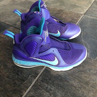 new products d2c15 dfc50 Nike Lebron 9 Summit Lake Hornets SKU 469764 500 Size 8