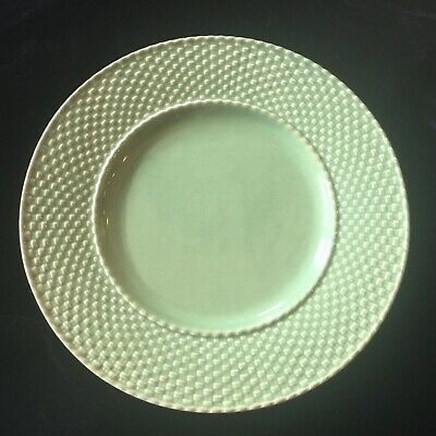 "Bordallo Pinheiro CELEBRATION Dinner Plate 10 1/4"" Weave Green Easter! HTF"