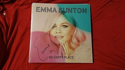 New Signed Emma Bunton My Happy Place LP Spice Girls Exclusive Pink Colored Baby