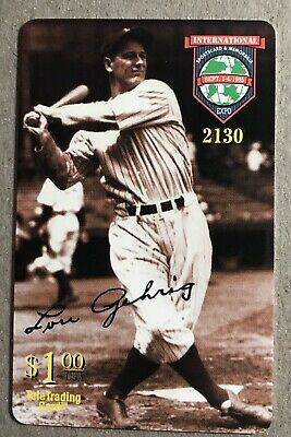 "1996 Lou Gehrig  ""Iron Horse"" Sports Collector's Convention Phone Card LE"