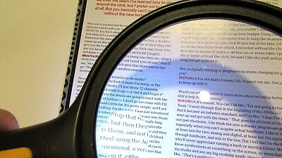 Extra Large 6 Inch LED Lighted Handheld Magnifier Reading Loupe
